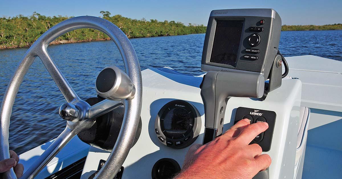 Install a fishfinder